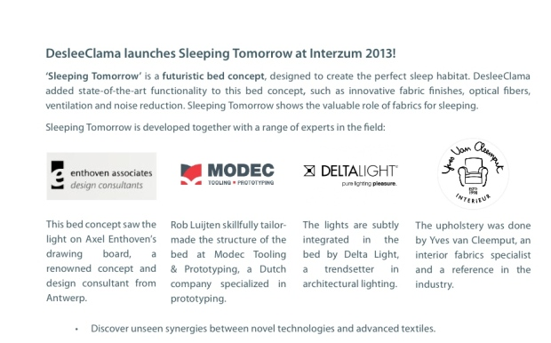 bed of the future - interzum 2013