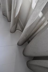 transparant gordijn in kamerhoge stof Zen