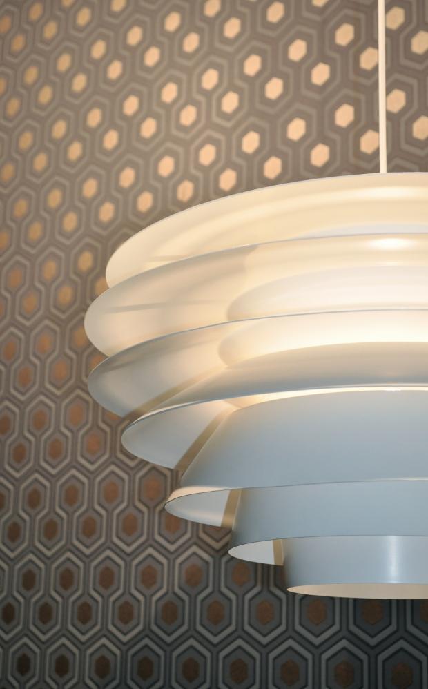 lamp Verona in wit metaal  Svend Middelboe voor Nordisk Solar (DK)  jaren 60